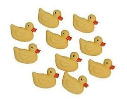 10 Yellow Duck  Sewing Buttons Crafting Scrapbooking Embelli