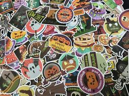 100 Halloween Holiday Stickers Vinyl  Decals  Lot for Kid Tr