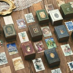 100Pcs/Box Diary Label Gift Collection Lot Of Books Paper Ca