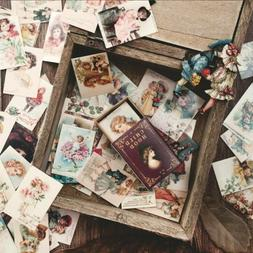 100Pcs/Set Vintage Paper Card Collection Of Books Retro Styl
