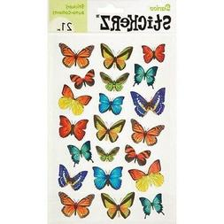 21 Stickerz Paper Butterfly Stickers- Scrap booking,Party Fa