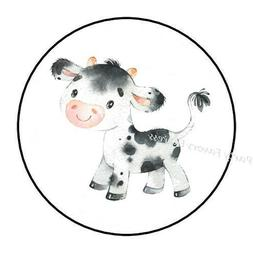 30 ADORABLE BABY COW ENVELOPE SEALS LABELS STICKERS PARTY FA