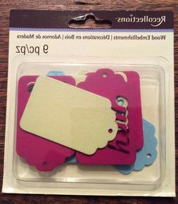 Recollections 312038 Sign Wood Embellishments 9 Pieces Craft