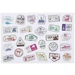 810x Travel Stickers, Stamps Sealing Vinyl Decals for luggag