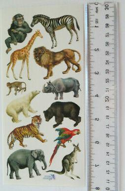 Antique Collection Violette Stickers - ZOO ANIMALS - Large S