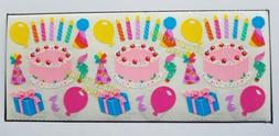 BIRTHDAY STICKERS SANDYLION VINTAGE COLLECTABLE RARE PARTY C