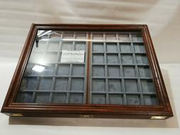 Display Case With Two Trays IN Velvet Display For Coins&More