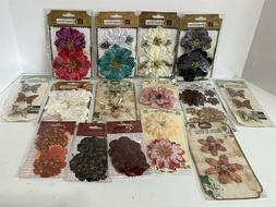 Prima FLOWERS Fabric Embellishments Crafting Butterflies Fea