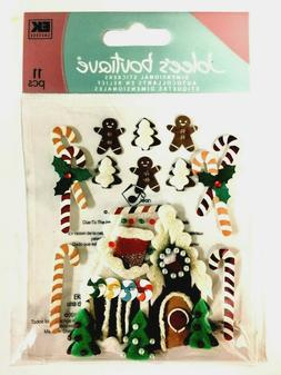 GINGERBREAD HOUSE Jolee's Boutique Dimensional Stickers NIP