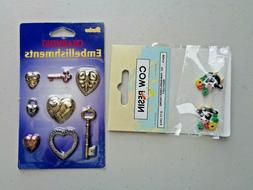 Heart and Cows Embellishments Scrapbooking Paper Crafts Craf