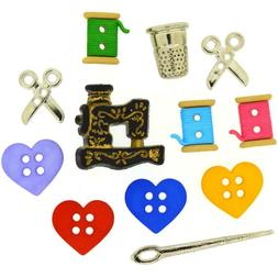 Jesse James, Dress It Up Buttons, Sewing Scrapbooking 'For t