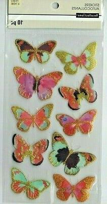 Recollections GOLD Accented BUTTERFLIES~Dimensional Stickers