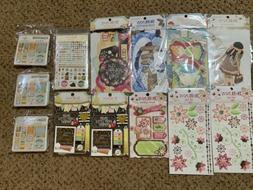 Bo Bunny Lot - Noteworthy, Journaling Cards, Rub-ons & Clear