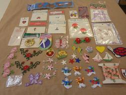 LOT OF  ASSORTED PRETTY SEWING   EMBELLISHMENTS