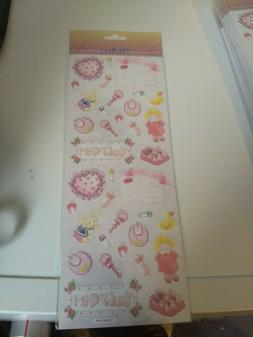 STICKERS FOR MAKE SCRAPBOOKING  NEW 28X12 CM BABY GIRL