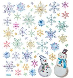 Snowflakes Holiday Foil Stickers Papercraft Planner Supply X