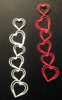 Stacked Hearts Die Cut Embellishments Choose Color 6 pcs. 1-